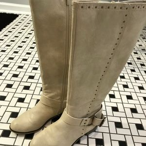 Not Rated Cream Mid-Calf Boots 7M
